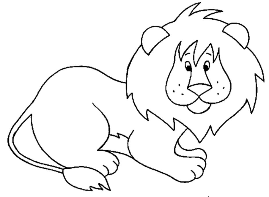 León #5 (Animales) – Páginas para colorear
