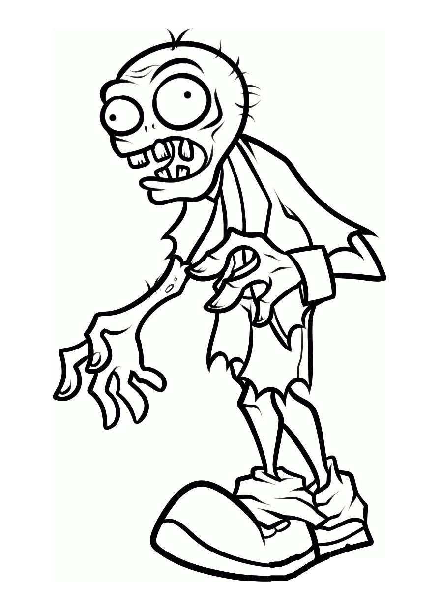 Zombi (Personajes) - Colorear dibujos gratis