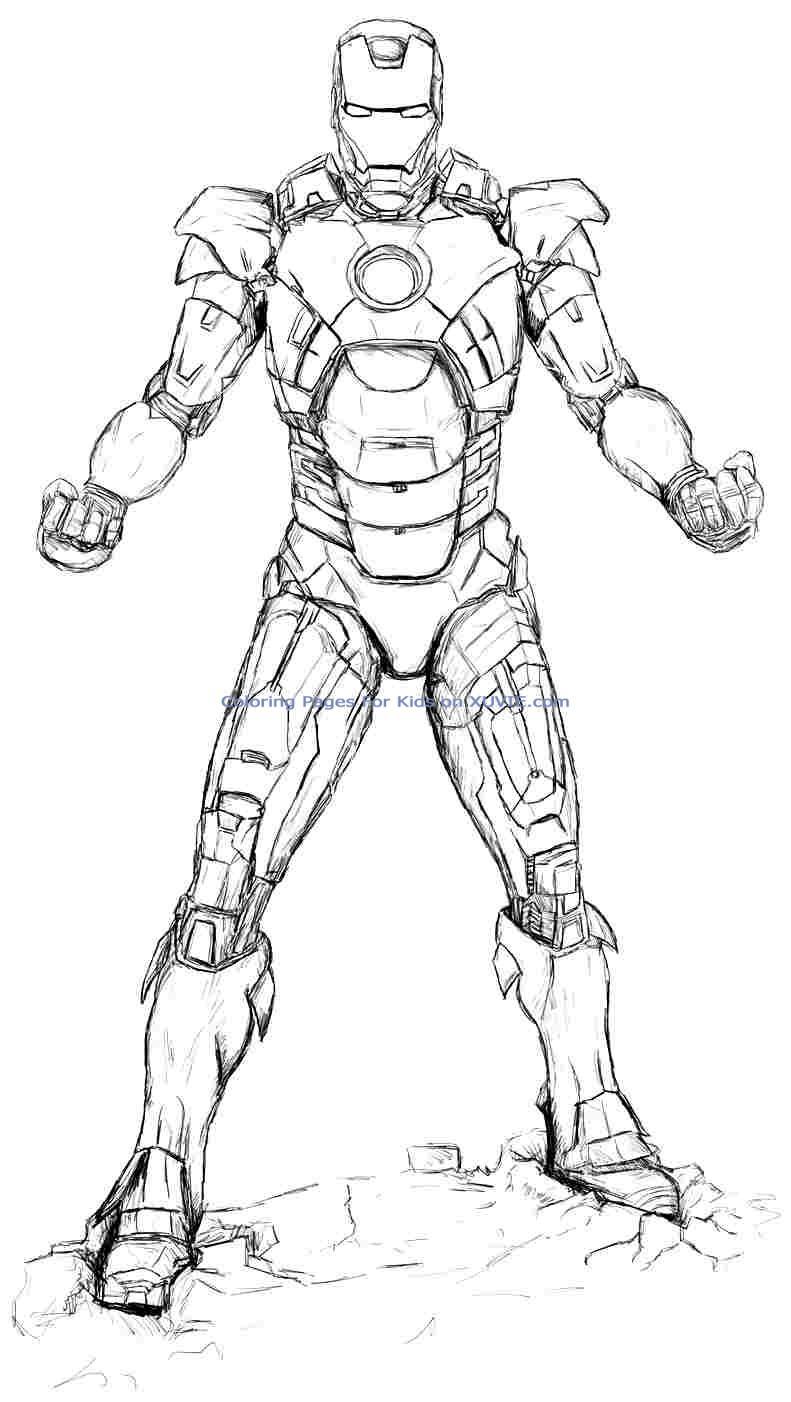 Iron Man (Superhéroes) - Page 4 - Páginas para colorear
