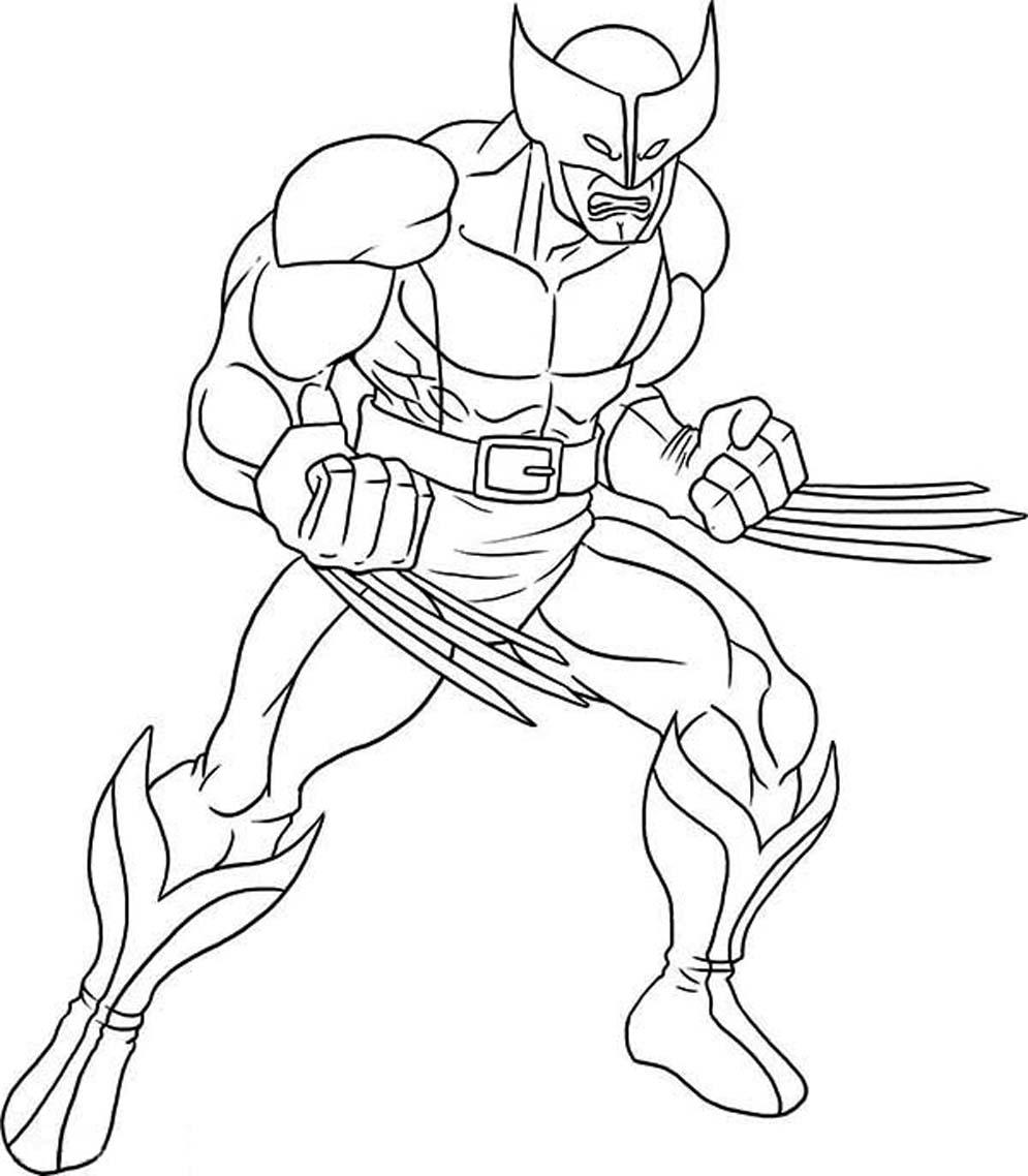 Wolverine (Superhéroes) - Colorear dibujos gratis