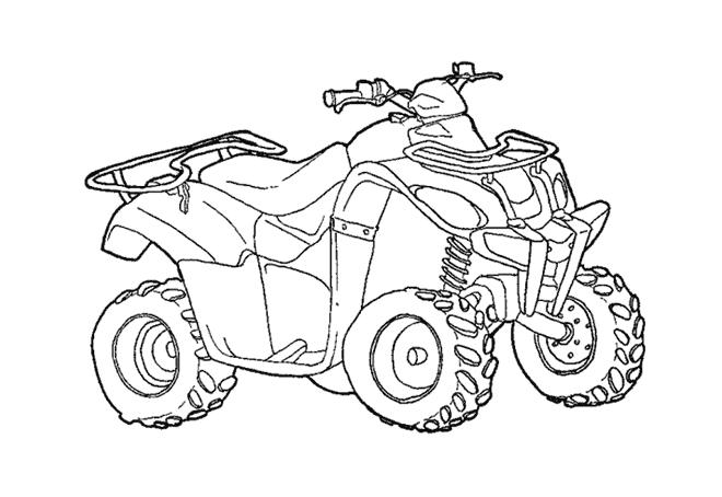 quad  atv transporte  colorear dibujos gratis