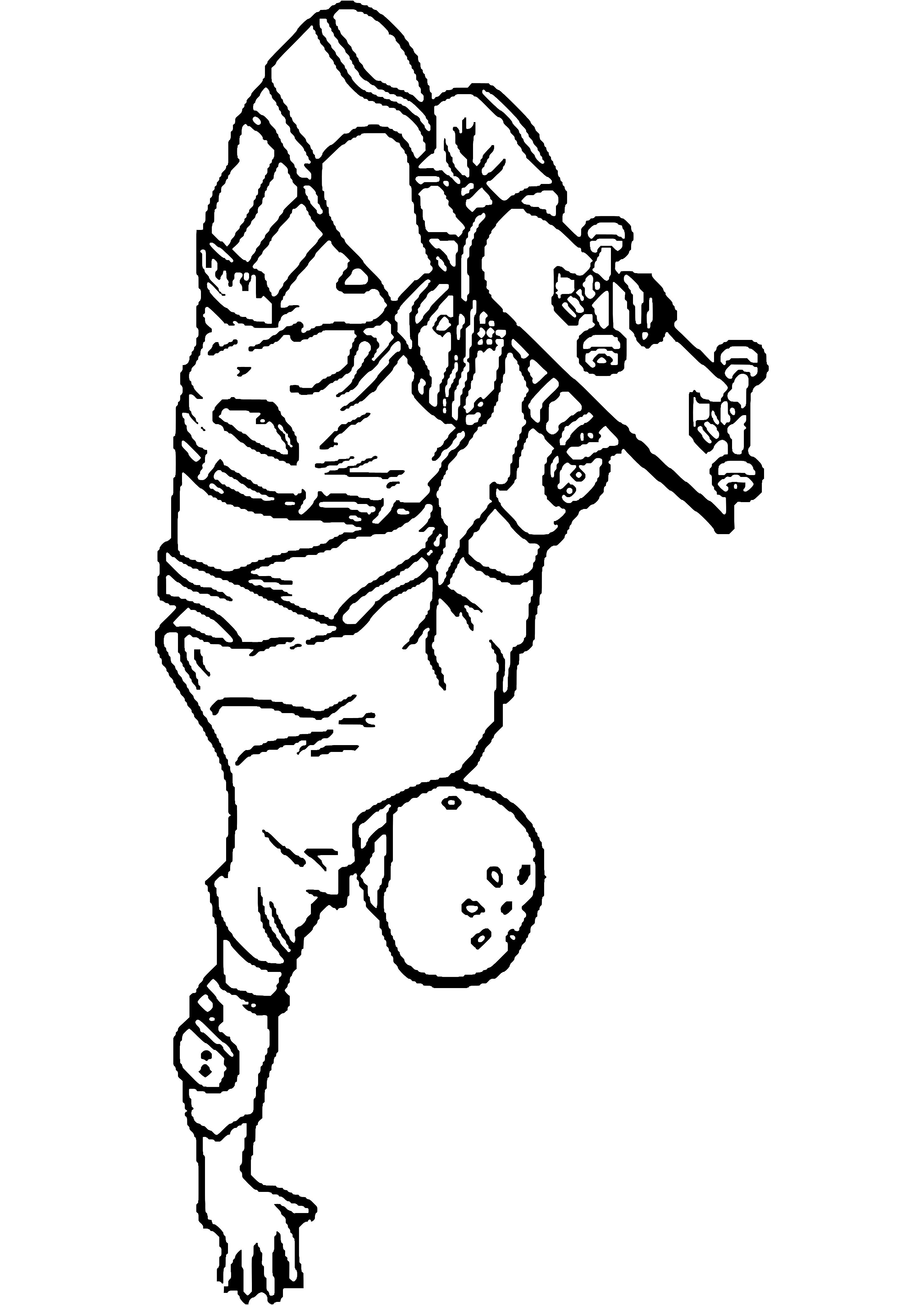 Skateboard (Transporte) - Page 2 - Páginas para colorear