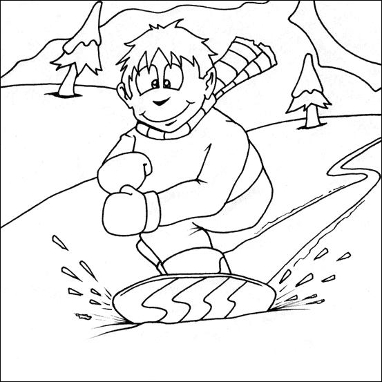 snowboard 11 transporte  páginas para colorear
