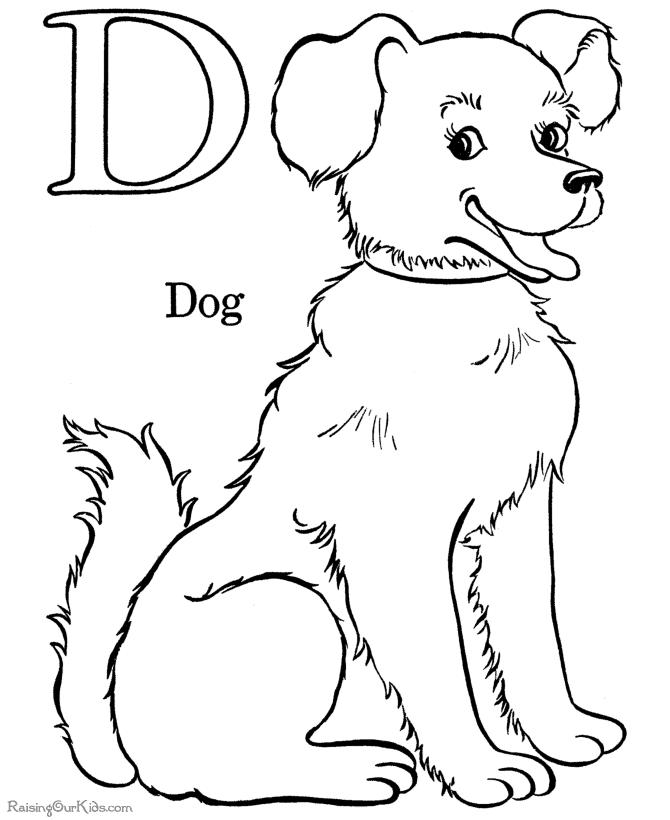 Perro 10 Animales Páginas Para Colorear